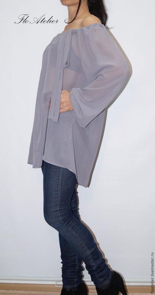 Блузки ручной работы. Ярмарка Мастеров - ручная работа. Купить Женская Рубашка/Летняя рубашка/ F1330. Handmade. Серый, рубашка женская