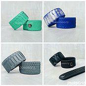 Украшения handmade. Livemaster - original item Bracelets made of genuine Python leather. Handmade.