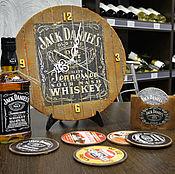 Для дома и интерьера ручной работы. Ярмарка Мастеров - ручная работа Jack Daniels авторские часы из виниловых пластинок. Handmade.