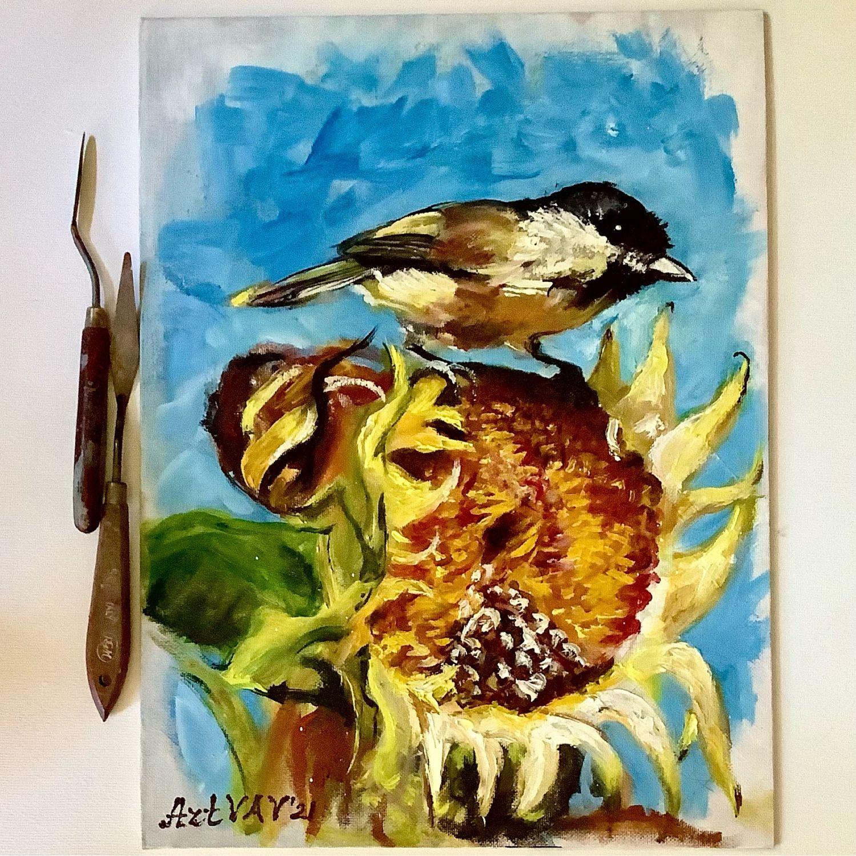 Картина птица, Картины, Ижевск,  Фото №1