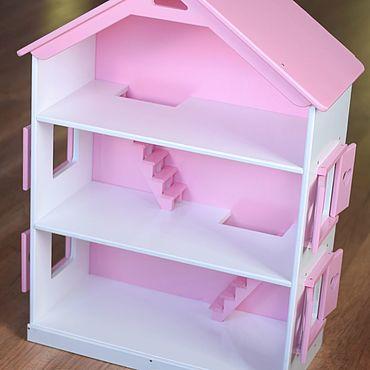 Куклы и игрушки ручной работы. Ярмарка Мастеров - ручная работа Копия работы Большой кукольный домик для кукол барби. Handmade.