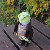 """Мягкие игрушки ручной работы. Ярмарка Мастеров - ручная работа Мистер Тоуд, жаба, коллекция """"Ветер в ивах"""", 23 см, друзья Тедди. Handmade."""