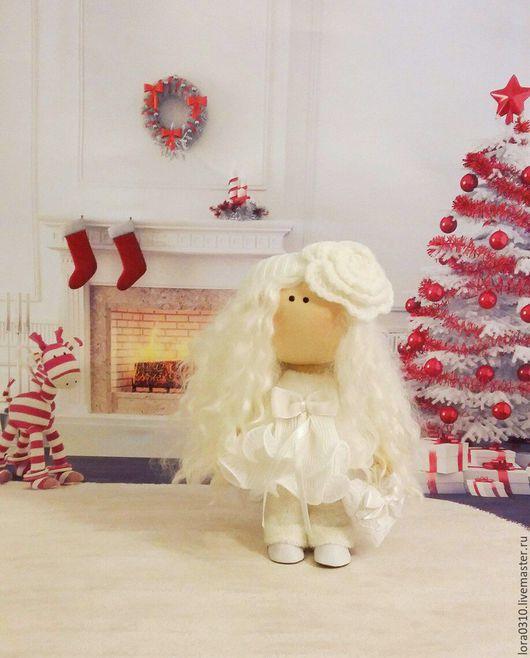 Коллекционные куклы ручной работы. Ярмарка Мастеров - ручная работа. Купить Ангелочек. Handmade. Белый, кукла в подарок, козий тресс