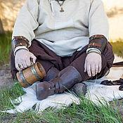 Обувь ручной работы. Ярмарка Мастеров - ручная работа Викингские сапоги тисненые. Handmade.