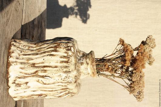 Графины, кувшины ручной работы. Ярмарка Мастеров - ручная работа. Купить Ваза ,,  Осенние травы,,. Handmade. Бежевый