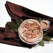 Свадебный салон ручной работы. Ярмарка Мастеров - ручная работа Свадебный пояс с шелковыми цветами. Handmade.