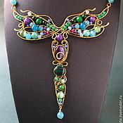 Necklace handmade. Livemaster - original item Summer Beauty pendant (variant with purple stones). Handmade.