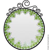 """Для дома и интерьера ручной работы. Ярмарка Мастеров - ручная работа Мозаичное зеркало """"Капель"""". Handmade."""
