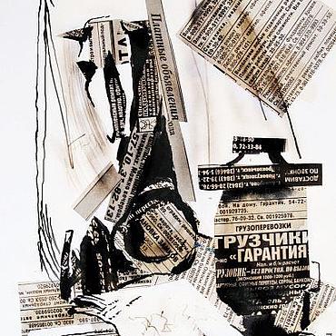 Картины и панно ручной работы. Ярмарка Мастеров - ручная работа коллаж Натюрморт. Handmade.