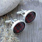 Украшения handmade. Livemaster - original item cufflinks silver plated cage red (large). Handmade.