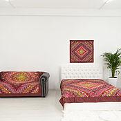 handmade. Livemaster - original item Red patchwork bedspread 165x215sm. Handmade.