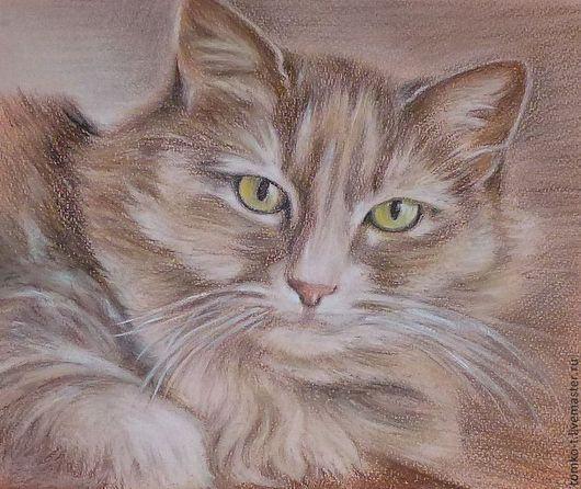 Портрет кошки. Пастель