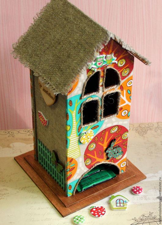 """Кухня ручной работы. Ярмарка Мастеров - ручная работа. Купить Чайный домик """"Деревья"""". Handmade. Комбинированный, необычный подарок, хлопок"""