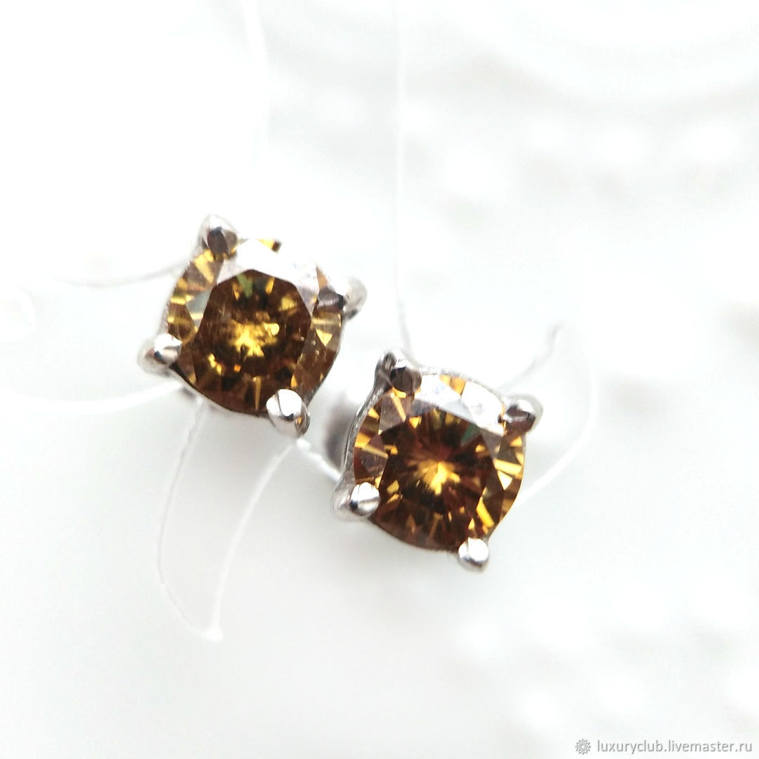Poussettes with diamonds on screws buy SUPER PRICE, Stud earrings, Tolyatti,  Фото №1