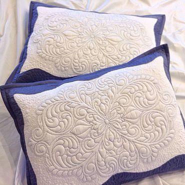 Текстиль ручной работы. Ярмарка Мастеров - ручная работа Стеганые наволочки на подушки .. Handmade.