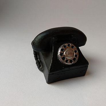 Материалы для творчества ручной работы. Ярмарка Мастеров - ручная работа Декор: Миниатюра Телефон 4 см. Handmade.