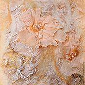 Аксессуары ручной работы. Ярмарка Мастеров - ручная работа Палантин валяный Цветок персика. Handmade.