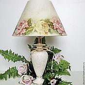 Для дома и интерьера ручной работы. Ярмарка Мастеров - ручная работа Лампа настольная Утренние розы. Handmade.