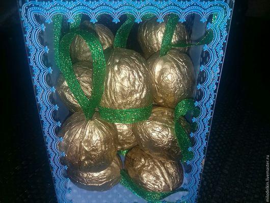 Персональные подарки ручной работы. Ярмарка Мастеров - ручная работа. Купить Золотые орешки с пожеланиями. Handmade. Золотой, орешки с пожеланиями