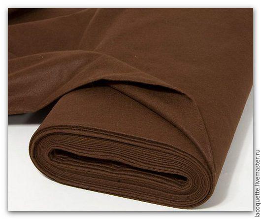 Шитье ручной работы. Ярмарка Мастеров - ручная работа. Купить Германия Мягкий фетр темно-коричневый. Handmade. Коричневый