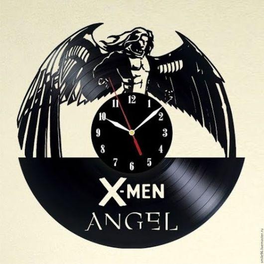 """Часы для дома ручной работы. Ярмарка Мастеров - ручная работа. Купить Часы из пластинки """"Люди Икс"""". Handmade. Комбинированный"""