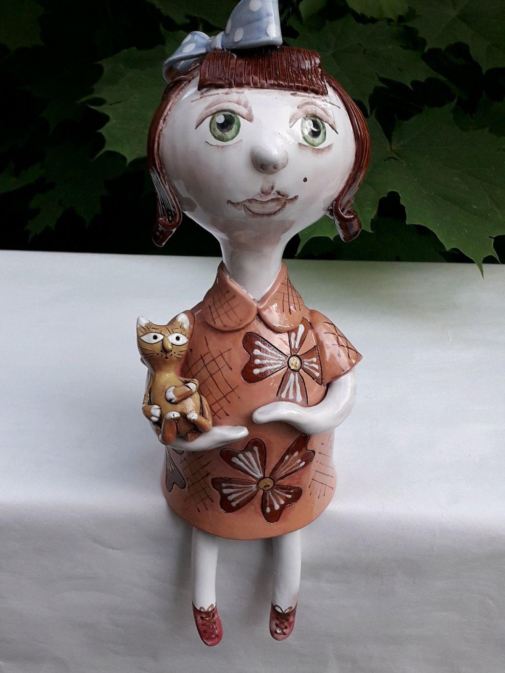 """Кукла колокольчик """"Девочка с котом"""", Колокольчики, Смоленск,  Фото №1"""