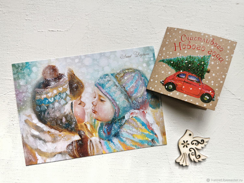 Набор открыток Декабрь, авторский набор, Открытки, Москва,  Фото №1