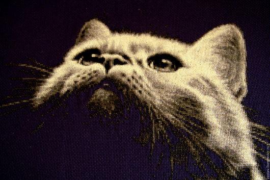 """Животные ручной работы. Ярмарка Мастеров - ручная работа. Купить Вышивка крестом """"Милый кот"""". Handmade. Вышивка крестом"""