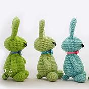 Stuffed Toys handmade. Livemaster - original item Crochet cute bunnies Gentlemen. Handmade.
