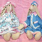 Куклы и игрушки ручной работы. Ярмарка Мастеров - ручная работа Кролики Агата и Мирон. Handmade.