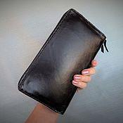 Сумки и аксессуары handmade. Livemaster - original item Clutch large wallet. Leather. Handmade. Alia Svalia. Handmade.