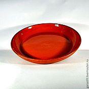 Посуда ручной работы. Ярмарка Мастеров - ручная работа Глиняная тарелка. Handmade.