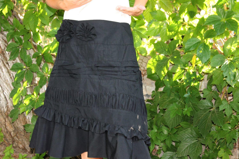 Офисная юбка -бохо с цветочным декором, Юбки, Ташкент, Фото №1