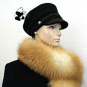 Аксессуары handmade. Livemaster - original item Luxury fur scarf boa fur bright red Siberian Fox №5. Handmade.
