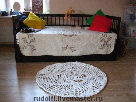 Текстиль, ковры ручной работы. Ярмарка Мастеров - ручная работа. Купить Ажурный коврик из бельевой веревки. Handmade. Коврик, веревка