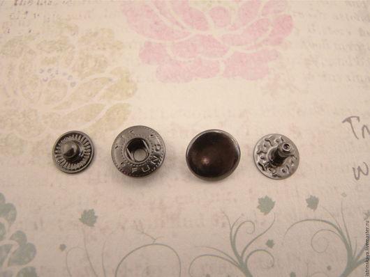 Другие виды рукоделия ручной работы. Ярмарка Мастеров - ручная работа. Купить Кнопки пружинные 12 мм блэк никель. Handmade.