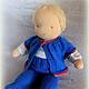 Вальдорфская игрушка ручной работы. Большая кукла-младенец (с вшитыми ручками) 40 см. Alla  (Waldorf doll&toy). Интернет-магазин Ярмарка Мастеров.