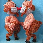 Материалы для творчества ручной работы. Ярмарка Мастеров - ручная работа МК по вязанию игрушки Сатир Филоктет. Handmade.