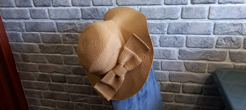 Винтаж: Шляпа из соломы от Nivea 57 размер, Головные уборы винтажные, Челябинск,  Фото №1