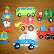 """Мягкие игрушки ручной работы. Ярмарка Мастеров - ручная работа Игрушки из фетра """"Транспорт"""". Handmade."""