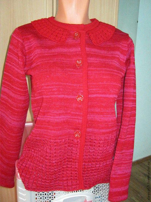 Одежда для девочек, ручной работы. Ярмарка Мастеров - ручная работа. Купить Кофточка для девочки. Handmade. Ярко-красный, Кофточка вязаная