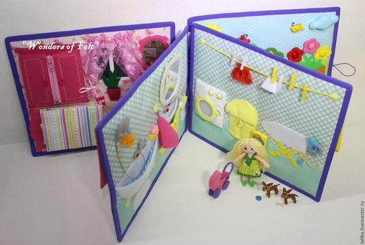 """Развивающие игрушки ручной работы. Ярмарка Мастеров - ручная работа. Купить Развивающая книжка """"Жизнь принцессы"""" 3Д. Handmade."""