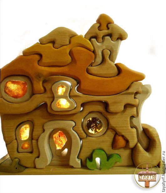 Детская ручной работы. Ярмарка Мастеров - ручная работа. Купить Дом гнома. Handmade. Бежевый, домик, пазлы из дерева, модерн