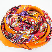 Аксессуары handmade. Livemaster - original item Italian scarf from a fabric HERMES