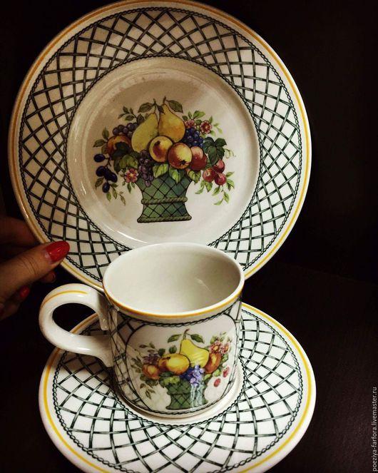 Винтажная посуда. Ярмарка Мастеров - ручная работа. Купить Кофейные трио Villeroy&Boch. Handmade. Комбинированный, villeroy boch, винтаж
