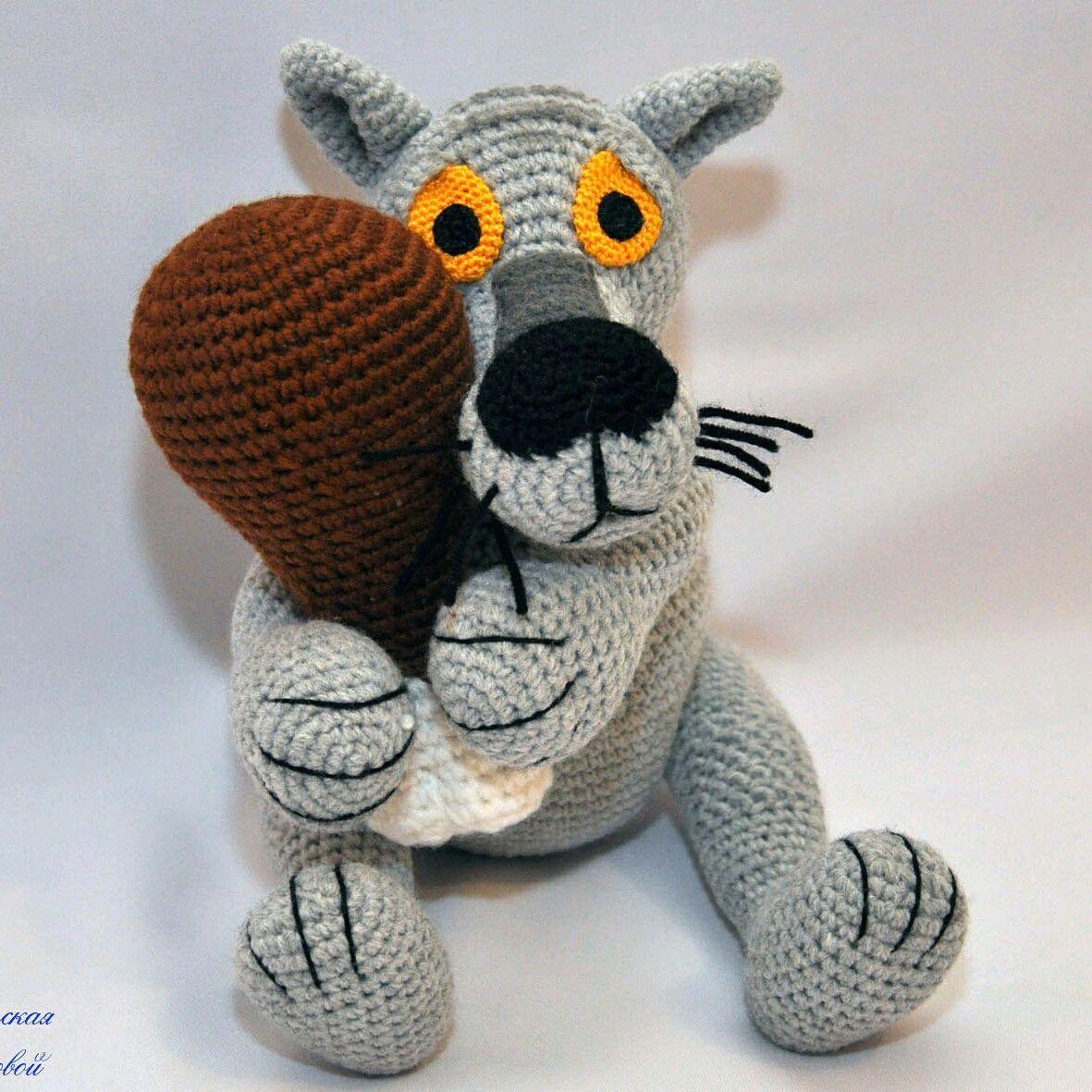 Вяжем серого волка крючком Вязаные игрушки. Амигуруми всех