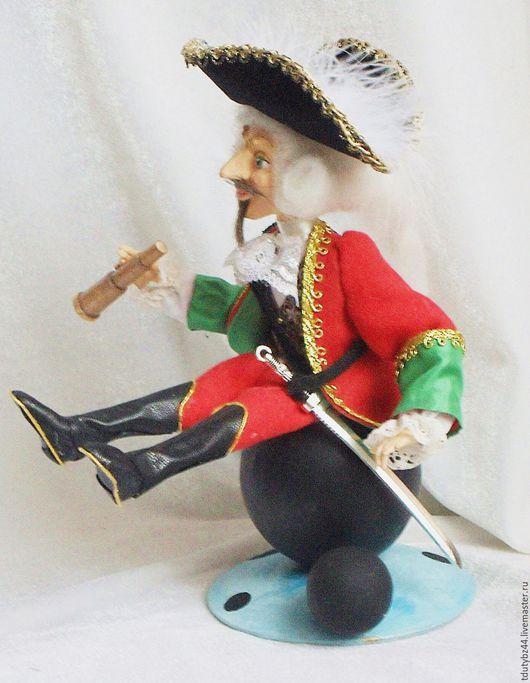 Коллекционные куклы ручной работы. Ярмарка Мастеров - ручная работа. Купить Мюнхгаузен на ядре авторская кукла, подарок мужчине, для мужчины. Handmade.