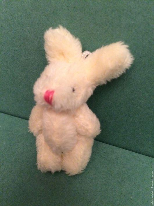 Куклы и игрушки ручной работы. Ярмарка Мастеров - ручная работа. Купить Зайчик плюшевый для кукол 4,5 см. Handmade.