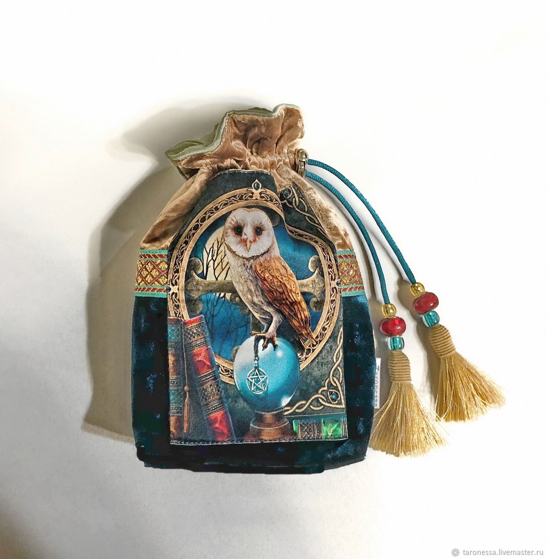 Bag 'Owl 4' for tarot, oracles, runes or crystals, Baggie, Noginsk,  Фото №1