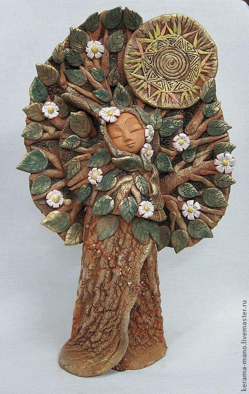 """Статуэтки ручной работы. Ярмарка Мастеров - ручная работа. Купить Дерево """"Первоцвет"""". Handmade. Керамика ручной работы, первоцветы"""